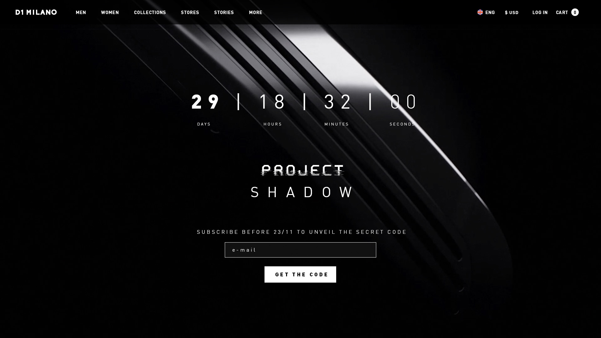 "Limited edition ""Project Shadow"" page"